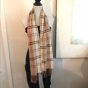 cejon tan extremely soft & gorgeous plaid scarf